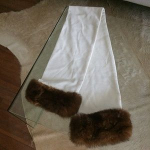 Femme Sistine Roma Scarf with Fur